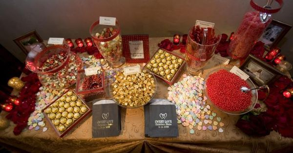 Red And Gold Candy Bar Buffet Always A Big Hit With