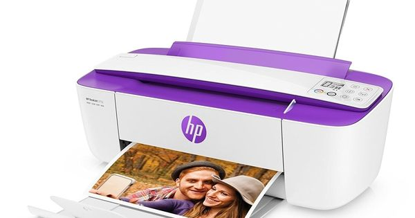 Hp Deskjet 3755 All In One Printer In White And Purple Certified