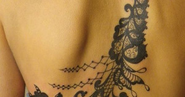 lace back Tattoo Designs. Love this.