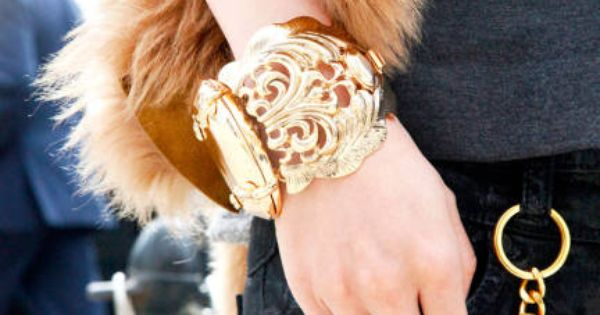 Similar items: Bracelet: Jessica Simpson Lady Chic Cuff, $47.99; zappos.com Tory Burch