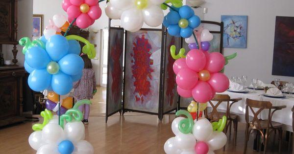 Decoracion de arcos para xv arco de flores y mariposas - Bombas para decorar ...