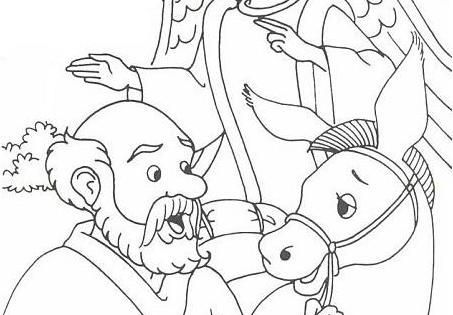 coloring pages balaams donkey - photo#13