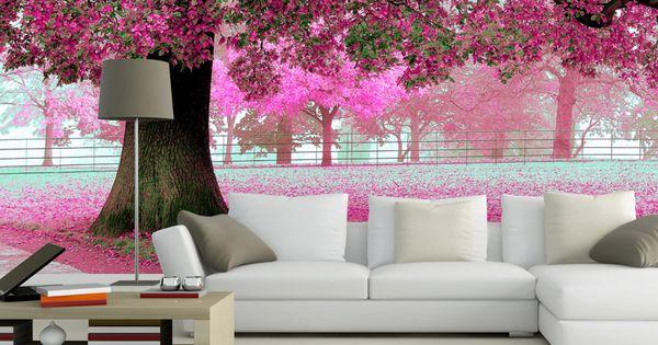 pas cher papel de parede 3d planchers de cerisier photo personnalis 3d papier peint for t. Black Bedroom Furniture Sets. Home Design Ideas