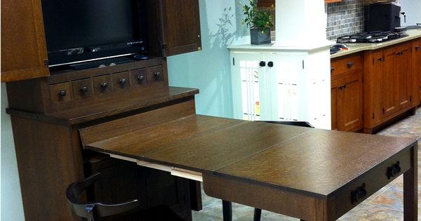 Wood Mode Pull Out Table To Extend Island Bar To Keep