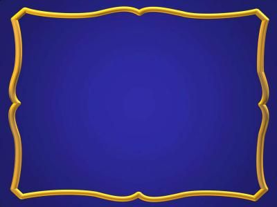 Blue Gold Frame Ppt Backgrounds Powerpoint Design Templates