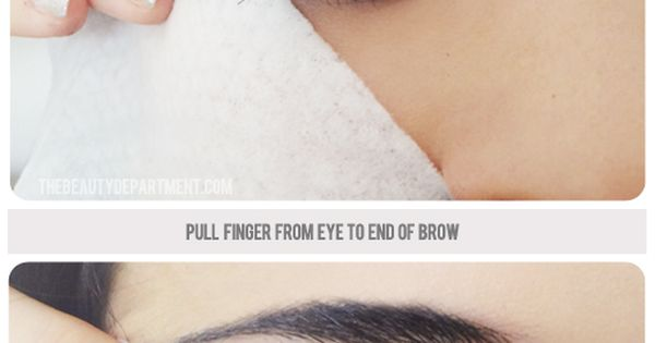 Creating the perfect winged eyeliner, easily. Thank you Beauty Department!