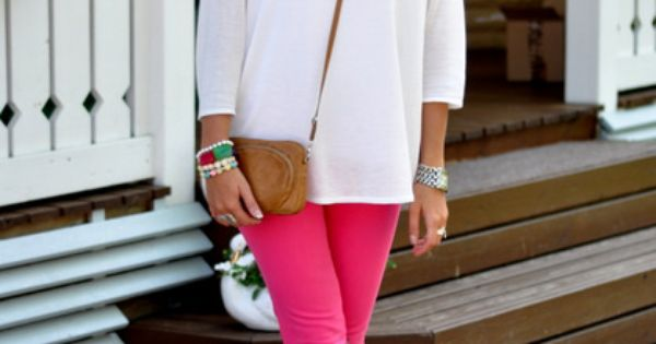 love the colored jeans!