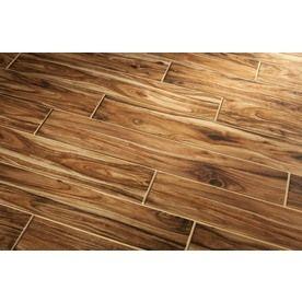 Lowe S Acacia Wood Porcelain Tile Ceramic Wood Floors Wood