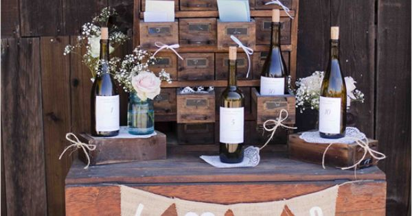 """Wine Bottle Guest Book - We used 5 wine bottles from important"