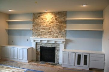Remarkable Fireplace Makeover Using The Whole Wall Move The Old Home Interior And Landscaping Ponolsignezvosmurscom