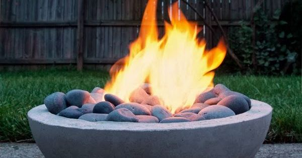 DIY Modern Concrete Fire Pit From Scratch Garden Ideas