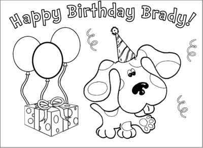 Blues Clues Birthday Coloring Pages Birthday Coloring Pages Blues Clues 7th Birthday Party Ideas