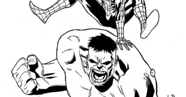 Hulk And Spiderman Coloring Pages coloring sheets for