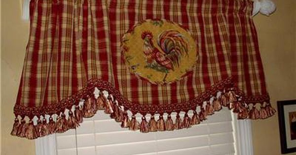 Kitchen Curtains chicken kitchen curtains : 17 Best images about Rooster and Hen Home Decorations on Pinterest ...