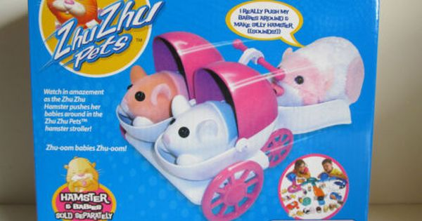 Zhu Zhu Pets Baby Hamster Stroller Includes 1 Two Seat Baby