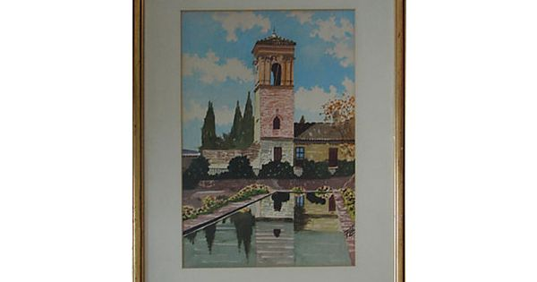 Italian villa  V...R C Moore Watercolors