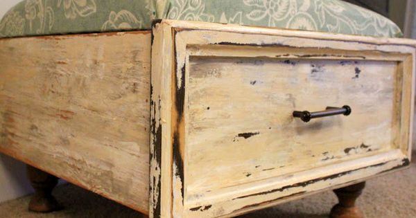 DIY :: Ottoman from an old drawer :: Beyond The Picket Fence.