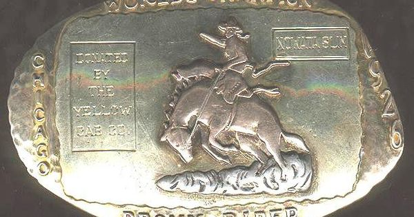1926 World S Champion Bronc Rider Rodeo Trophy Buckles