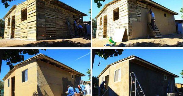 Como hacer una casa con palets arquitectura ecol gica - Construir una casa ecologica ...