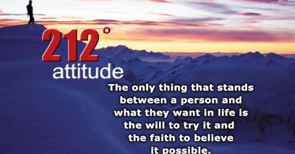 212 degrees - attitude | Education Quotes | Pinterest ...