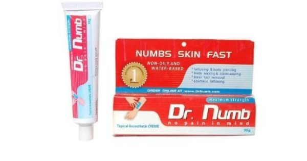 30 gram authentic dr numb skin numbing cream tattoo laser for Does dr numb work for tattoos