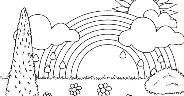 Rainbow In The Garden Coloring Pages Rainbow Coloring