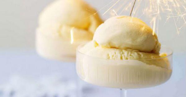 Happy New Year! Sparkler ice Cream dessert