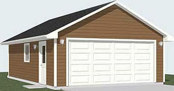 2 Car Garage Plan With Extra Space 672 1 24 X 28 Garage Plans Garage Plan 2 Car Garage Plans