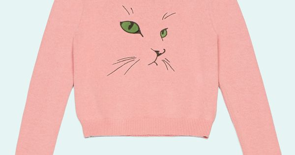 Pink Cat Face Jumper - casual lolita