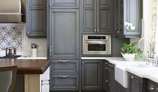 grey kitchen cabinet color