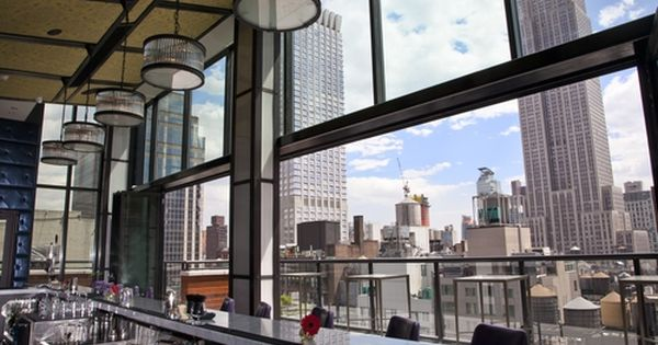 Spy Glass Rooftop Bar And Lounge At The Archer Hotel With Images