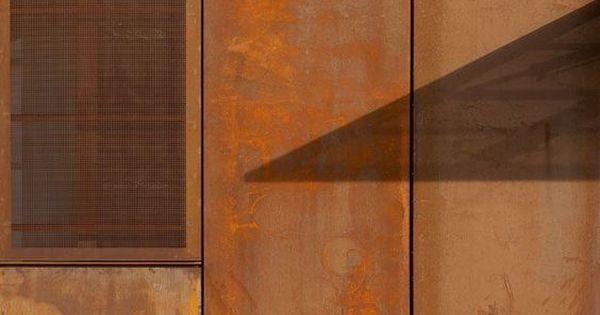 Corten Steel Sheets Leveson Project Pinterest