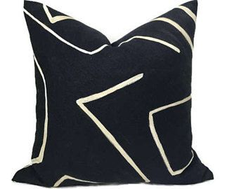 Kelly Wearstler Graffito Pillow Cover In Onyx Beige Decorative Pillow Cover Throw Pillow Lumbar Pillow Accent Pil Pillow Covers Pillows Black Pillow Covers