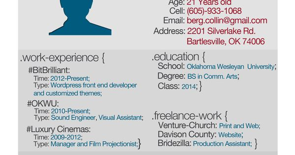 Web Design Resume Job search Pinterest Pomysły, Cv i - visual assistant sample resume