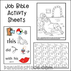 Job Bible Lessons Crafts And Games Job Bible Bible Lessons