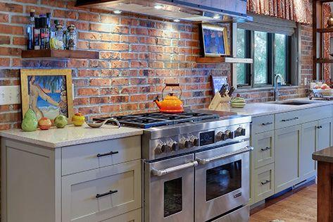 This Kitchen Features Glen-Gery Brick's Milwaukee Thin