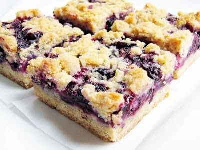 My Favorite Things Blueberry Cheesecake Bars With An Oatmeal Cookie C
