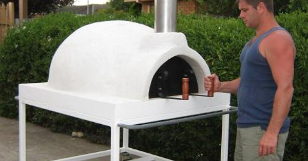 Mobile trolley mounted wood fired pizza oven for sale for Outdoor furniture jeddah