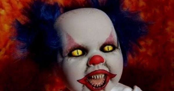 Baby scary   Scary Clowns   Pinterest   Scary