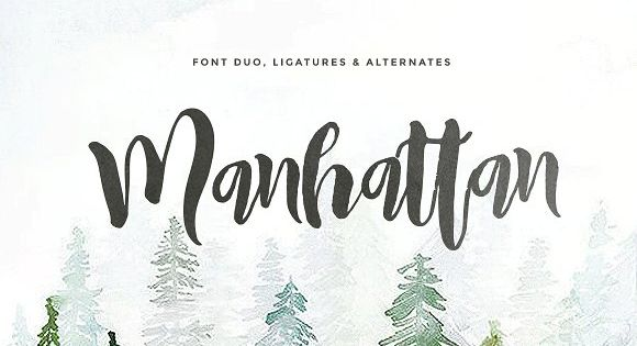 Manhattan Script (2 fonts) – made handwritten script with authentic dry brush imperfections, lovable script come with 2 font combination