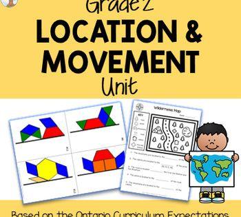 Location Movement Unit Grade 2 Ontario Curriculum 2nd Grade Math 2nd Grade