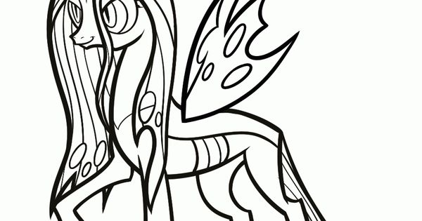 mlp printable coloring pages How to Draw Queen Chrysalis