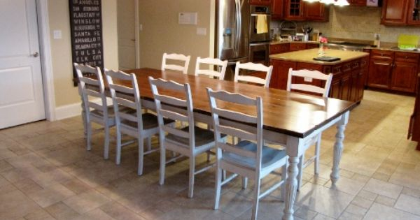 Two Tone Farmhouse Table Dining Tables Pinterest Farmhouse Table Kitchen Diner Extension