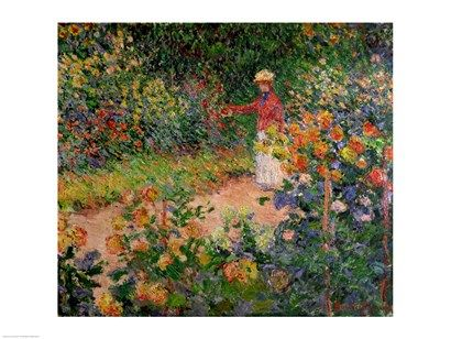 Garden At Giverny 1895 By Claude Monet Garden Painting Monet