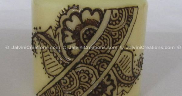 Henna Mehndi Leicester : This ivory henna mehndi candle is great for gifts any