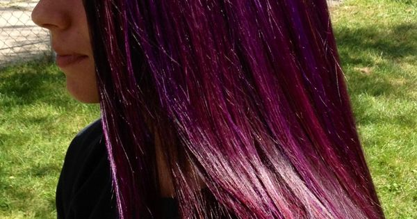Purple highlights w/ a red purple base | Cabello: efectos ...