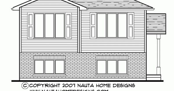 Raised bungalow house plan rb249 house plans floor for Nauta home designs