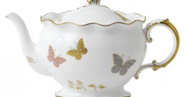Royal crown derby royal butterfly teapot te 2 for Teteras el corte ingles