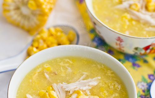 Chicken and Sweet Corn Soup with Egg - My Lemony Kitchen