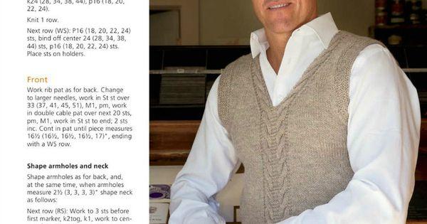 Classic Mens Sweater Vest Crochet 25